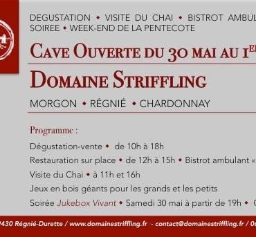 Cave ouverte – 30-31 Mai & 1er Juin 2020